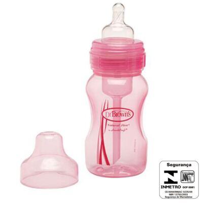 Imagem 3 do produto Mamadeira Boca Larga Rosa 240ml (0m+) - Dr Brown's