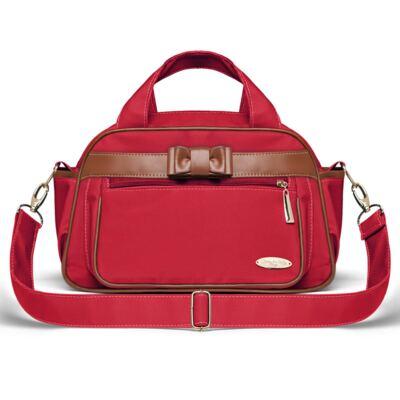 Imagem 3 do produto Kit Mala Maternidade para bebe + Bolsa Viagem Oxford + Frasqueira Térmica Kent + Necessaire Laço Caramel Vermelho - Classic for Baby Bags