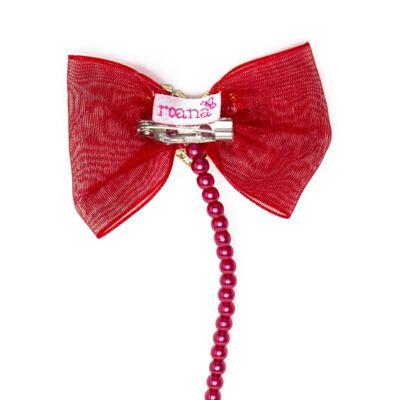 Imagem 2 do produto Prendedor de chupeta Laço Coração Vermelho - Roana