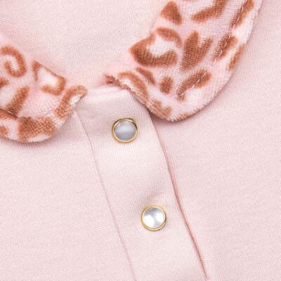 Imagem 4 do produto Body longo com Calça (mijão) e Colete para bebe Leopard Print - Grow Up - 01040056.121 CJ PG CUDDLE C/ COLETE ROSA BLUSH-M