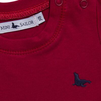 Imagem 2 do produto Body longo em cotton touch Vermelho - Mini Sailor - 01074263 BODY M/L BASICO SUEDINE VERMELHO -0-3