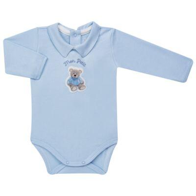 Imagem 2 do produto Body longo c/ Calça (Mijão) para bebe em algodão egípcio Chevalier - Petit - 19994167 CONJ BODY ML C/ MIJAO SUED/VISCO URSO-G