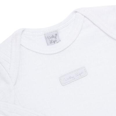 Imagem 3 do produto Body longo com Calça para bebe Sleep Comfort Branco - Vicky Lipe