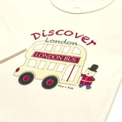 Imagem 4 do produto Body longo com Calça jeans fleece em algodão egípcio c/ jato de cerâmica e filtro solar fps 50 Little Guardians - Mini & Kids - CBC1304 BODY M/L C/ CALÇA SUEDINE LONDON BEAR-P