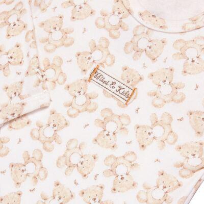 Imagem 3 do produto Body longo com Calça em algodão egípcio c/ jato de cerâmica e filtro solar fps 50 Nature Little Friend Bear - Mini & Kids - CJBM0001.18 CONJUNTO BODY M/L C/CALÇA - SUEDINE-M