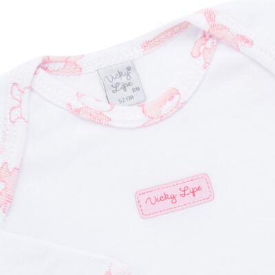 Imagem 3 do produto Body longo com Calça (mijão) para bebe em high comfort Pink Litle Friends - Vicky Lipe - 1825151.311 BODY M/L MIJÃO PÉ REVER. FRIENDS-M