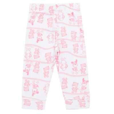 Imagem 4 do produto Body longo com Calça (mijão) para bebe em high comfort Pink Litle Friends - Vicky Lipe - 1825151.311 BODY M/L MIJÃO PÉ REVER. FRIENDS-M