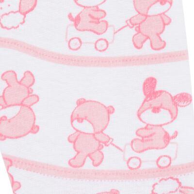 Imagem 5 do produto Body longo com Calça (mijão) para bebe em high comfort Pink Litle Friends - Vicky Lipe - 1825151.311 BODY M/L MIJÃO PÉ REVER. FRIENDS-M