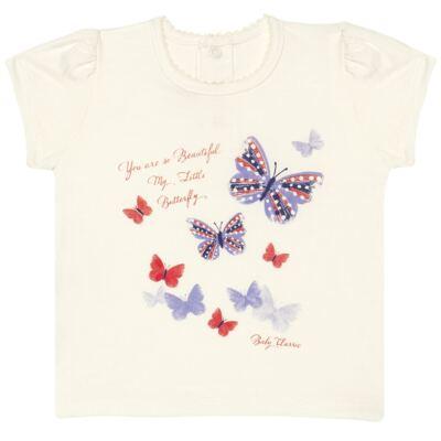 Imagem 1 do produto Blusinha para bebe em viscolycra Butterflies - Baby Classic - 6711629 BLUSINHA BASICA FEM. VISCOLYCRA BUTTERFLY 2 -G
