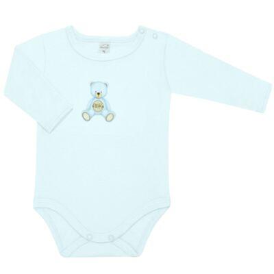 Imagem 2 do produto Body longo com Calça  em Pima Cotton Supreme Prime Bear Azul - Mini & Kids - CS971 BODY ML C/ MIJÃO SUEDINE AZUL BB-RN