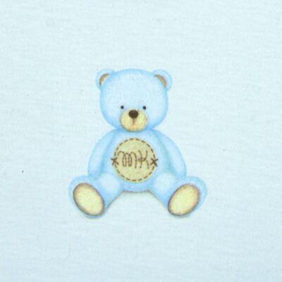 Imagem 3 do produto Body longo com Calça  em Pima Cotton Supreme Prime Bear Azul - Mini & Kids - CS971 BODY ML C/ MIJÃO SUEDINE AZUL BB-RN