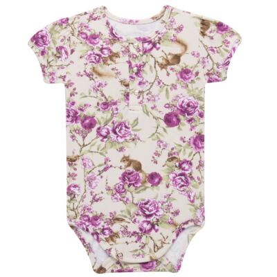 Imagem 2 do produto Body com Shorts para bebe em suedine L'Amore - Grow Up - 04080007.132 CONJUNTO POETRY FLORAL-G