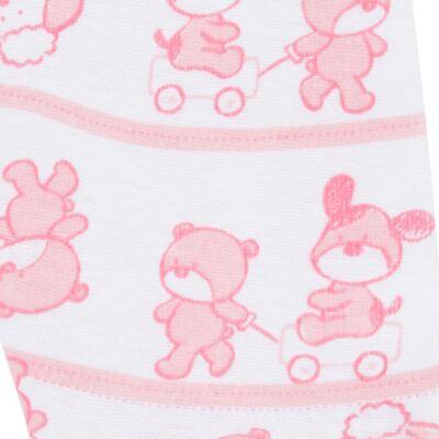 Imagem 5 do produto Body longo com Calça (mijão) para bebe em high comfort Pink Litle Friends - Vicky Lipe - 1825151.311 BODY M/L MIJÃO PÉ REVER. FRIENDS-G