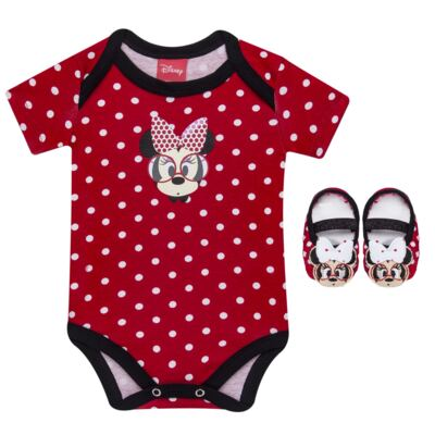 Imagem 1 do produto Body curto para bebe + Meia sapatilha Minnie - Puket
