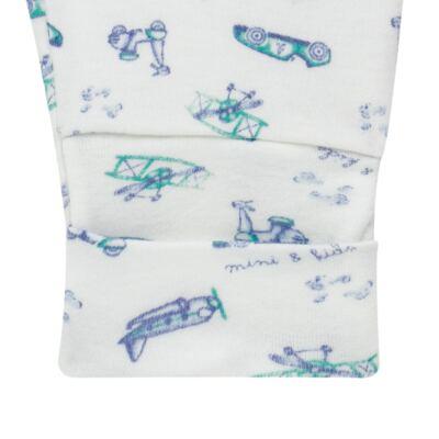 Imagem 4 do produto Body longo com Calça (mijão) em algodão egípcio c/ jato de cerâmica e filtro solar fps 50 Race Pilot - Mini & Kids - CS631.253 CONJ BODY ML C/ MIJAO SUEDINE TRANSPORTE-RN