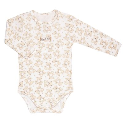 Imagem 2 do produto Body longo com Calça em algodão egípcio c/ jato de cerâmica e filtro solar fps 50 Nature Little Friend Bear - Mini & Kids - CJBM0001.18 CONJUNTO BODY M/L C/CALÇA - SUEDINE-GG
