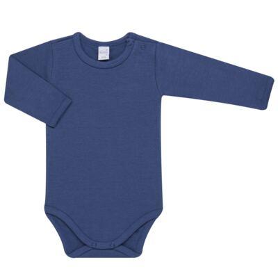 Imagem 2 do produto Body longo com Calça para bebe em algodão egípcio c/ jato de cerâmica e filtro solar fps 50 Mariner - Mini & Kids - CS571.323 CONJ BODY ML C/ MIJAO SUEDINE LISTRAS-M