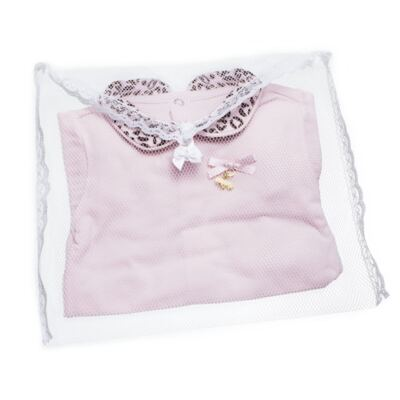 Imagem 6 do produto Body longo com Mijão para bebê em algodão egípcio Oncinha - Roana - 02532023220 CONJUNTO BODY GOLA + MIJÃO ONCINHA -RN