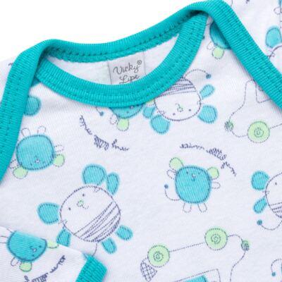 Imagem 3 do produto Body longo com Calça para bebe em high comfort Mouse - Vicky Lipe - 1825181.314 BODY M/L MIJÃO PÉ REVER. MOUSE-RN