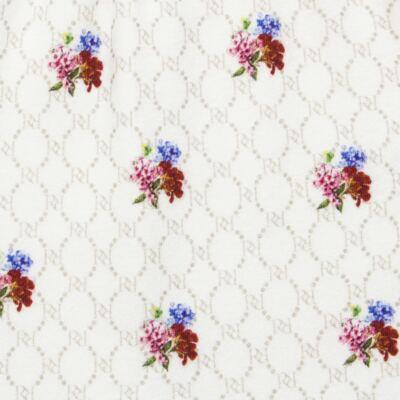 Imagem 5 do produto Body longo c/ Calça (Mijão) em algodão egípcio Flores - Roana - 02532019031 Conjunto Body longo com Calça Marfim-P