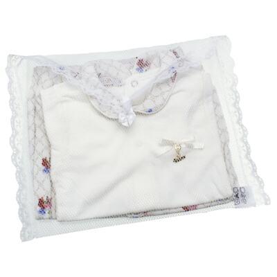 Imagem 6 do produto Body longo c/ Calça (Mijão) em algodão egípcio Flores - Roana - 02532019031 Conjunto Body longo com Calça Marfim-P