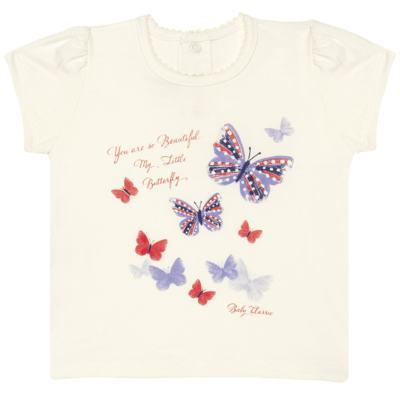 Imagem 1 do produto Blusinha para bebe em viscolycra Butterflies - Baby Classic - BUTTERFLY 2 -1