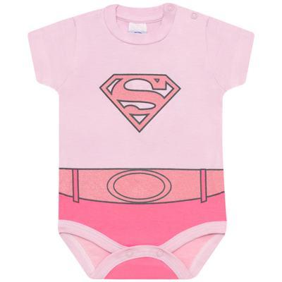 Imagem 1 do produto Body curto para bebe em malha Stica Stica Supergirl - Get Baby - Supergirl-EG