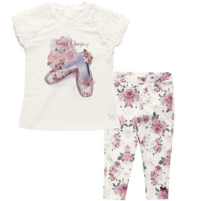Imagem 1 do produto Blusa com Legging para bebe em cotton Ballerina Camelli - Charpey - WHITE -GG