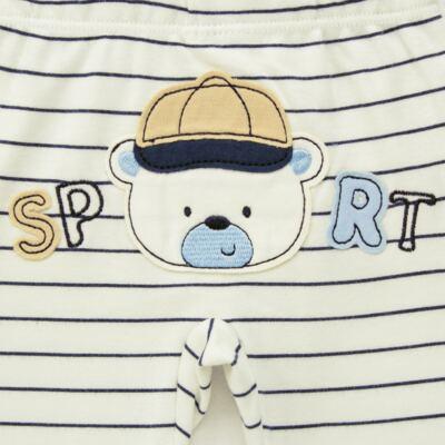Imagem 5 do produto Body longo com Calça para bebe em algodão egípcio c/ jato de cerâmica e filtro solar fps 50 Sports - Mini & Kids - P