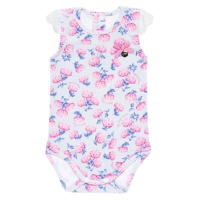 Imagem 2 do produto Body curto com Shorts para bebe em algodão egípcio c/ jato de cerâmica e filtro solar fps 50 L'Hortensia - Mini & Kids - HORTÊNCIAS-P