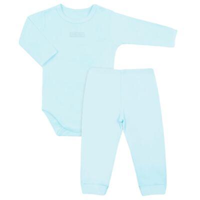 Imagem 1 do produto Body com Calça (mijão) em suedine Azul - Vicky Lipe - AZUL BB-G