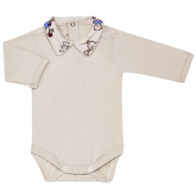 Imagem 2 do produto Body com Mijão em algodão egípcio Baby Toys - Roana - BM000887005 BODY C MIJAO 666 BEGE-RN