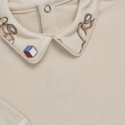 Imagem 3 do produto Body com Mijão em algodão egípcio Baby Toys - Roana - BM000887005 BODY C MIJAO 666 BEGE-G
