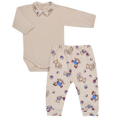 Imagem 1 do produto Body com Mijão em algodão egípcio Baby Toys - Roana - BM000887005 BODY C MIJAO 666 BEGE-M
