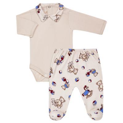 Imagem 1 do produto Body com Mijão em algodão egípcio Baby Toys - Roana - BM000887005 BODY C MIJAO 666 BEGE-P