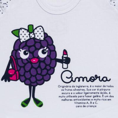 Imagem 4 do produto Baby Doll que Brilha no Escuro Amora - Cara de Criança - B2297 AMORA PJ-BABY DOLL M/MALHA-4