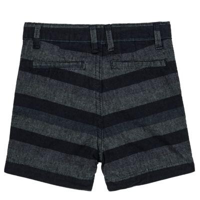 Imagem 4 do produto Bermuda para bebe Striped Jeans - Reserva Mini - RM23230 BERMUDA BB CASUAL AVESSO-1