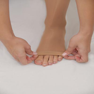 Imagem 2 do produto Meia Coxa Agh 20-30 Comfortline Venosan - Ponteira Fechada Curta Bege P