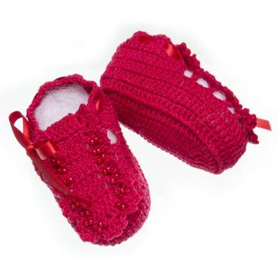 Imagem 3 do produto Sapatinho para bebe em tricot Vermelho - Roana