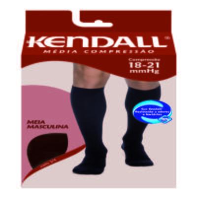 Imagem 1 do produto Meia Panturrilha Masculina 18-21 Media Kendall - AZUL MARINHO PONTEIRA FECHADA G KENDAL