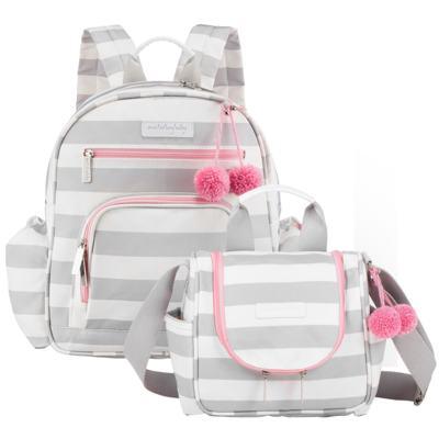 Imagem 1 do produto Mochila maternidade Noah + Frasqueira Térmica Candy Colors Pink - Masterbag