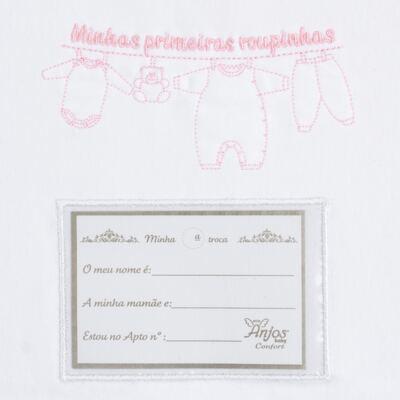 Imagem 3 do produto Kit 3 Saquinhos para maternidade Minhas Primeiras Roupinhas Borboletas - Anjos Baby - AB1757818 KIT PORTA ROUPA MATERNIDADE MASC ROSA