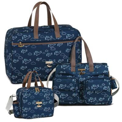 Imagem 1 do produto Mala maternidade + Bolsa Toulouse + Bolsa térmica organizadora Aviões - Masterbag