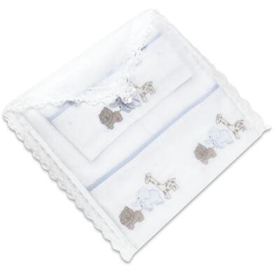 Imagem 3 do produto Kit Amamentação: 1 paninho de ombro + 1 paninho de boca em fralda Zoo - Roana