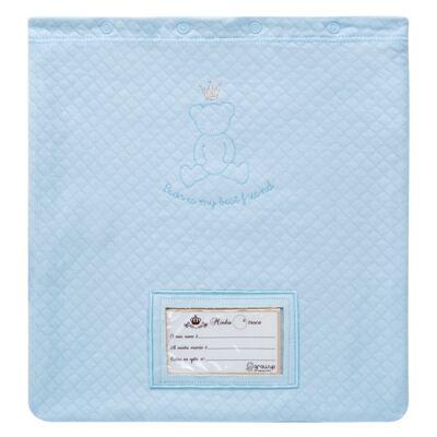 Imagem 1 do produto Porta Roupinhas para Maternidade Azul Matelassê - Grow Up