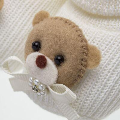 Imagem 2 do produto Sapatinho em tricot Ursinha Marfim - Roana
