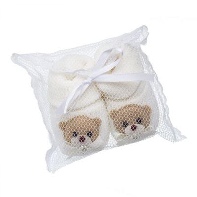 Imagem 4 do produto Sapatinho em tricot Ursinha Marfim - Roana