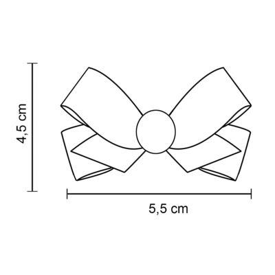 Imagem 4 do produto Prendedor de Cabelo Laço em gorgurão Pesponto Marfim - Roana