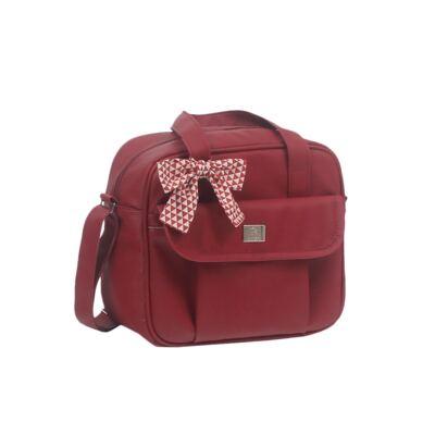 Imagem 3 do produto Bolsa maternidade + Frasqueira térmica + Porta Mamadeira Laço Vermelho - Hey Baby
