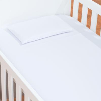 Imagem 1 do produto Jogo de lençol para berço em malha Branco - Biramar Baby